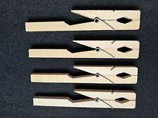 """4 Wooden Glass Test Tube Holder Clamp Rack Tongs 7"""" New"""