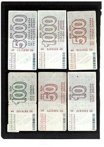 Bosnia 1992/93 Sarajevo bons circulated