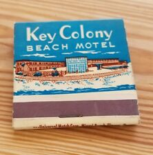 Vintage Matchbook Key Colony Beach Motel Of Distinction Marathon Shores Florida