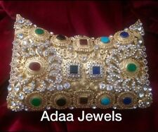 Bridal Jewelled Clutch Bag Indian Jewellery Accessories Multi Colour Evening Bag