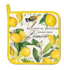 "Michel Design Works ""Lemon Basil"" Cotton 9xx9"" Potholder with Hanging Tab  NEW"