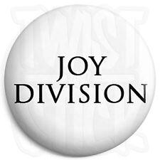 Joy Division - Closer Font Logo - White - Post Punk Indie 25mm Button Badge
