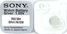 SONY 384/392 (SR41SW/SR41W) 1.55V OSSIDO D'ARGENTO Batteria Orologio - MADE IN