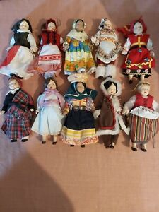 dolls of the world set of 75 dolls in good condition all made of porcelain