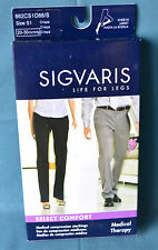 Sigvaris S1 Compression Socks Stocking Knee-Hi 20-30 mmHg 862CS1066/S Black New