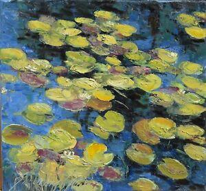 """Na stawie"""" Original Oil Painting 30x30cm signed Garncarek Al,,"""