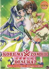 DVD Kore Wa Zombie Desuka? Season 1 + 2 ( Vol 1 - 22 End ) + 2 OVA