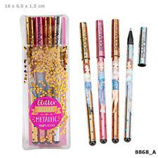 TOPModel 4er Metallic Glittergelstifteset Glitter Roller Gelstifte Depesche 8868