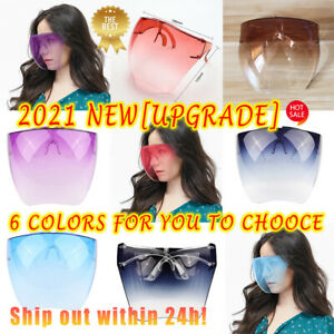 2021 HOT! Face Shield Protective Facial Cover Transparent Glasses Visor Anti-Fog