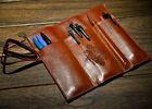 Retro Vintage New Pencil Pen Case Cosmetic Pouch Pocket Brush Holder Makeup Bag