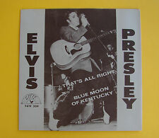 Elvis Presley SUN 209 That's All Right / Blue Moon Of Kentucky RARE PS * MINT *