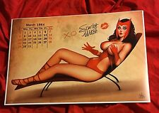 SCARLET WITCH~CALENDAR PIN UP GIRLS~ART PRINT~SIGNED NATHAN SZERDY~AVENGERS