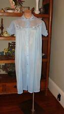 "Ladies/Women's Vintage Adonna Short Nylon Robe - Bust to 42"" - Blue"