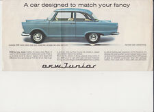 DKW Junior brochure 1960 large format RARE English language MINT