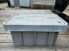 Oldcastle Grey Meter Box and Lid Tier 15 Duo1324-12 Concrete Top 32132101