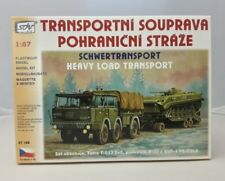 Modell Kunststoff LKW Tatra T 813 6 x 6 Tieflader P 32 Panzer BVP 1 SDV 1:87 H0