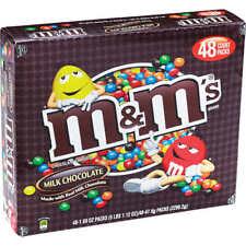 M&M's Milk Chocolate Candies, 1.69 oz, 48 ct