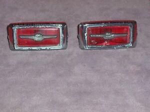 1969 Ford Thunderbird original rear quarter marker lights in driver condition.