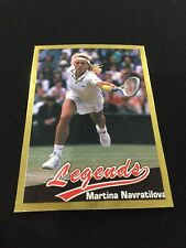 MARTINA NAVRATILOVA ROOKIE ODD BALL GOLD LEGENDS SPORTS 1990 TENNIS CARD