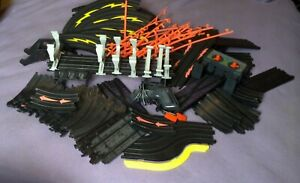 OVER 80 PIECES!  Lot of AURORA AFX Slot Car Track Sections  Lapometer + MORE!