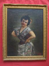 Beau portrait de femme de 1901 signé GARNIER