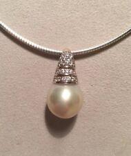 Südsee Perlen Anhänger 925 Sterling Silber Rhodiniert.