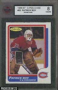 1986-87 O-Pee-Chee OPC Hockey #53 Patrick Roy Canadiens RC Rookie HOF KSA 8