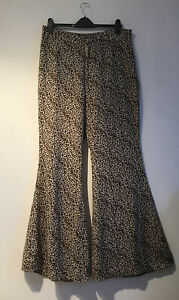 pretty little thing size 16/M Animal Print 70's Flares VGC