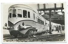 RAILWAY - L.M.S. NEW STREAMLINED DIESEL TRAIN Real Photo Postcard
