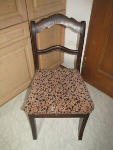 Antiker Stuhl gepolstert Nussbaumholz restauriert Top Designe
