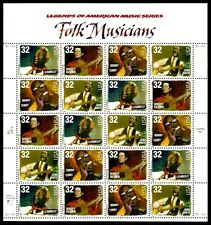 1998 - Folk Musicians - #3212-5 - Full Mint -Mnh- Sheet of 20 Postage Stamps
