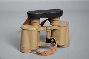 RARE Late War WWII German 6x30 Dienstglas Tan Binoculars CAG Swarovski 1944