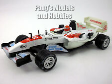 5.5 Inch Formula Race Car Scale Diecast Metal Model by Kingstoy - WHITE/RED