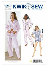 Kwik Sew SEWING PATTERN K2811 Misses Long & Short Pyjamas XS-XL