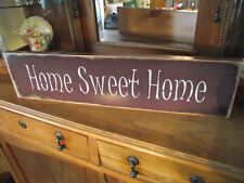 HOME SWEET HOME   wood sign primitive