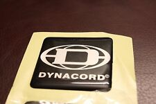DYNACORD Crystal Bubble Top Logo Badge 50mm Square - Adhesive
