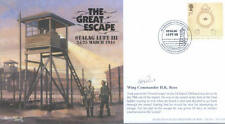 AV600 Stalag Luft III WWII RAF cover signed POW Great Escape tunneler KEN REES