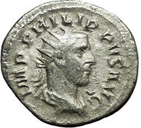 PHILIP I 'the Arab' 247AD Silver Ancient Roman Coin Annona Wealth symbol  i34142