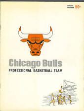 Chicago Bulls vs Baltimore Bullets 1966-67 basketball program
