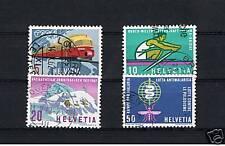 4 Francobolli Svizzera 1962 usati