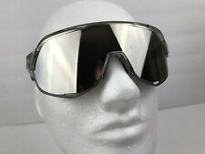 100% Cycling S2 Sunglasses Translucent Grey Frame HiPER Silver Mirror Lens