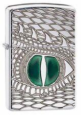 "Zippo ""Dragon Eye"" Armor High Polish Chrome Lighter, Deep Carved, 28807"