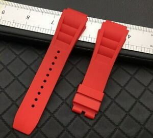 25mm Nature Silicone Rubber Watchband Strap Bracelet For Richard Mille + Tools