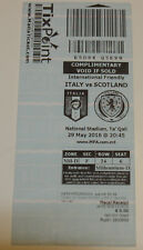 Ticket for collectors * Italy - Scotland 2016 in Ta'Qali Malta