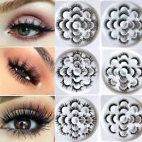 7 Pairs 3D 5D Mink Wispy Natural Soft Long Eye Lashes False Eyelashes Extension