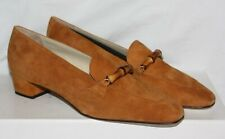 NEW Patrick Cox 39.5 6.5 TAN BURNT ORANGE LEATHER SUEDE LOW FLAT LOAFER SLIP ON