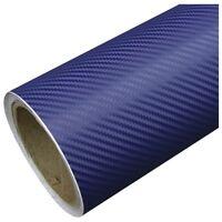 Skymex 3D NAVY BLUE Carbon Fibre Vinyl Wrap Sheet Film Sticker 50cm x 1.52m