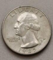 """New Discovery"" 1985 P Washington Quarter ""Extra Leaf"" Reverse Minting Error"