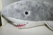 """Aurora World Great White Shark large plush 29"""" and Ty Nori Narwhale lot of 2"""