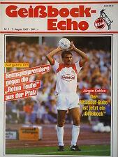 Programm 1987/88 1. FC Köln - Kaiserslautern